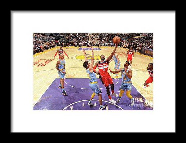 Nba Pro Basketball Framed Print featuring the photograph John Wall by Andrew D. Bernstein