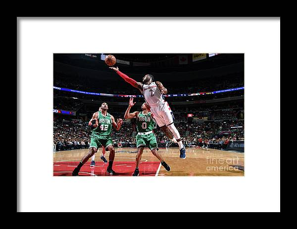 Playoffs Framed Print featuring the photograph John Wall by Brian Babineau