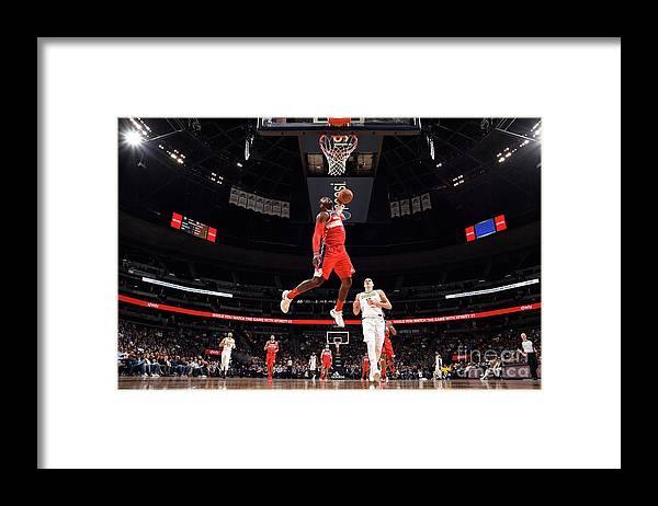 Nba Pro Basketball Framed Print featuring the photograph John Wall by Garrett Ellwood
