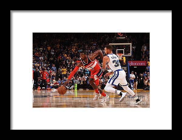 Nba Pro Basketball Framed Print featuring the photograph John Wall by Noah Graham