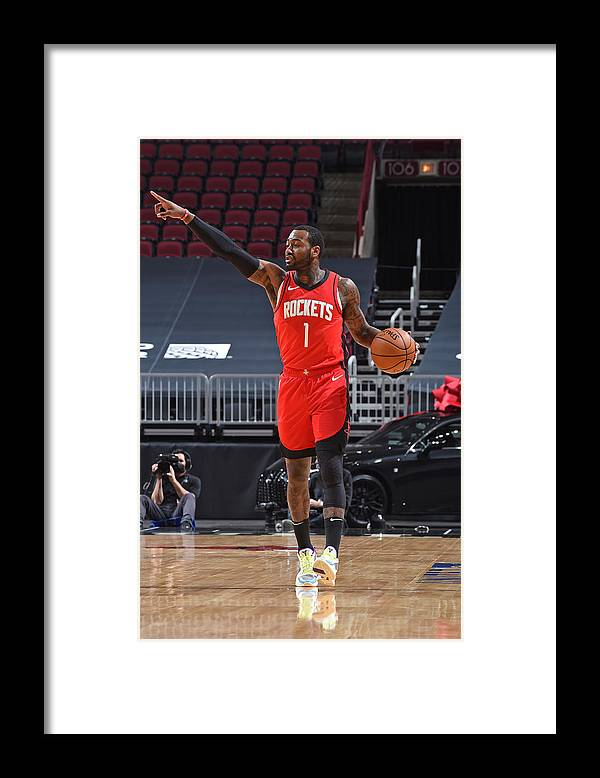 Nba Pro Basketball Framed Print featuring the photograph John Wall by Randy Belice