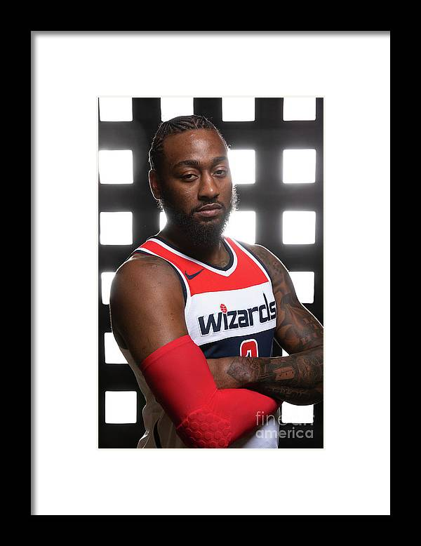 Media Day Framed Print featuring the photograph John Wall by Stephen Gosling