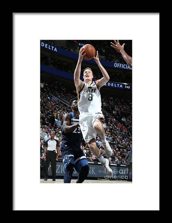 Nba Pro Basketball Framed Print featuring the photograph Jonas Jerebko by Melissa Majchrzak