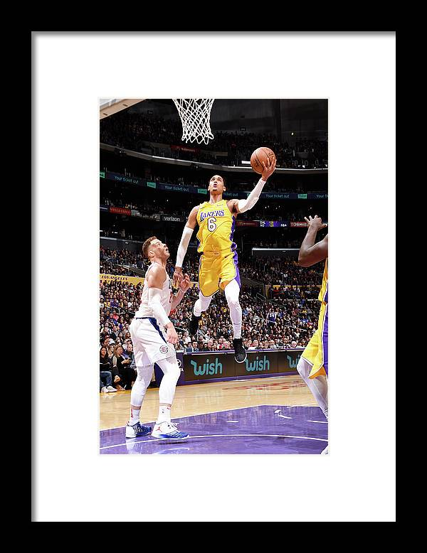Nba Pro Basketball Framed Print featuring the photograph Jordan Clarkson by Andrew D. Bernstein