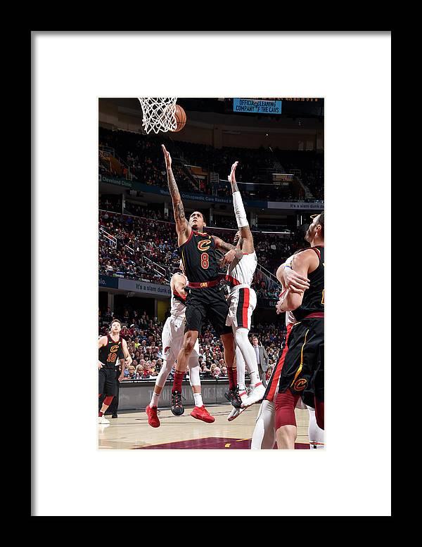 Nba Pro Basketball Framed Print featuring the photograph Jordan Clarkson by David Liam Kyle