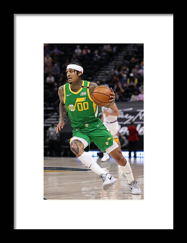 Nba Pro Basketball Framed Print featuring the photograph Jordan Clarkson by Melissa Majchrzak