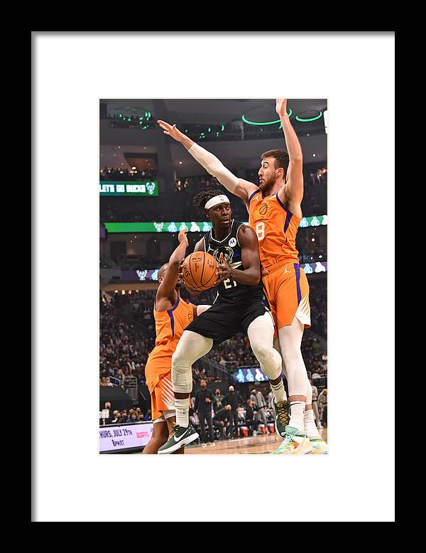 Playoffs Framed Print featuring the photograph Jrue Holiday by Jesse D. Garrabrant