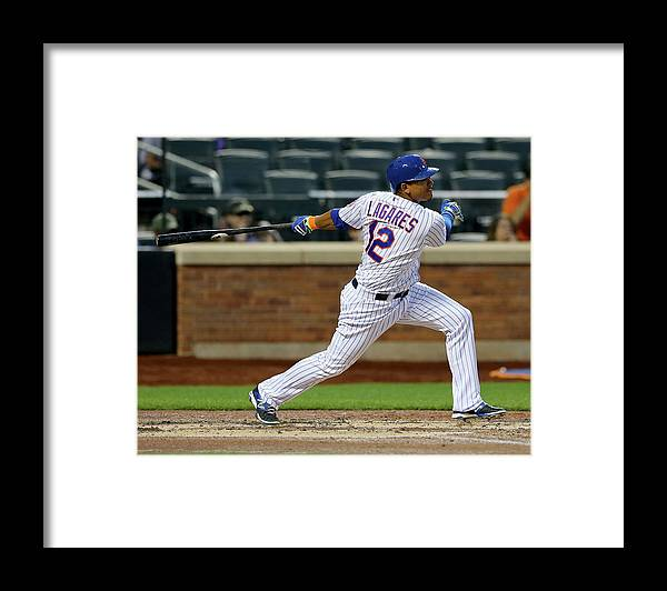Second Inning Framed Print featuring the photograph Juan Lagares by Elsa