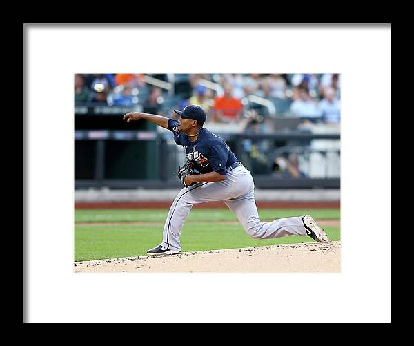 Julio Teheran Framed Print featuring the photograph Julio Teheran by Elsa