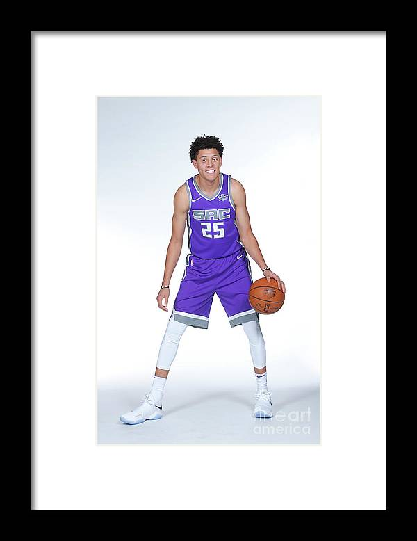 Media Day Framed Print featuring the photograph Justin Jackson by Rocky Widner