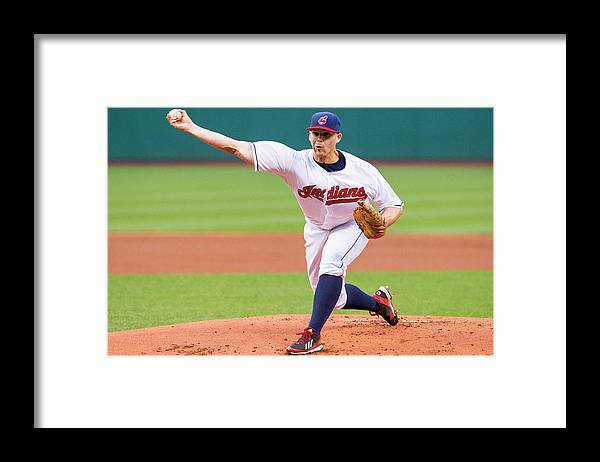American League Baseball Framed Print featuring the photograph Justin Masterson by Jason Miller
