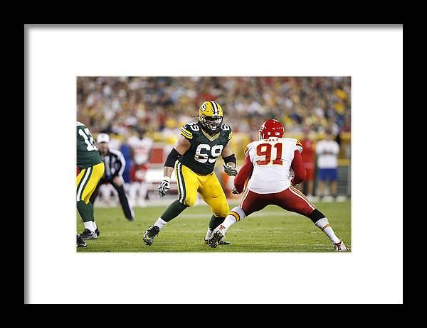 Green Bay Framed Print featuring the photograph Kansas City Chiefs v Green Bay Packers by Joe Robbins