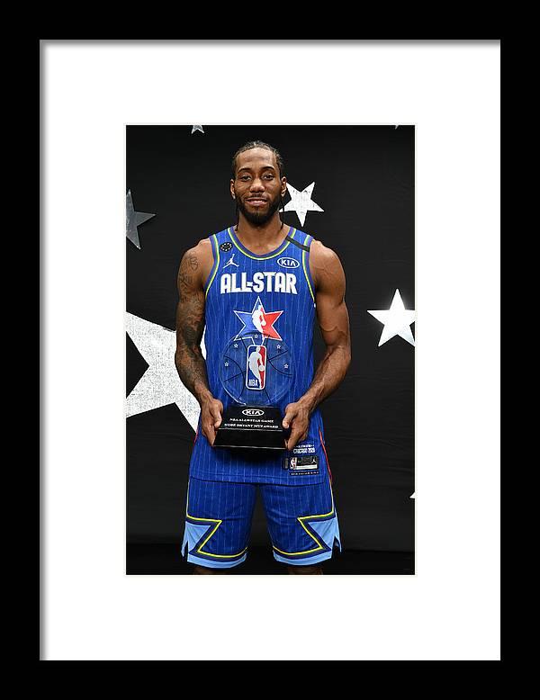 Nba Pro Basketball Framed Print featuring the photograph Kawhi Leonard and Kobe Bryant by Jesse D. Garrabrant