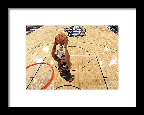 Event Framed Print featuring the photograph Kawhi Leonard by Andrew D. Bernstein