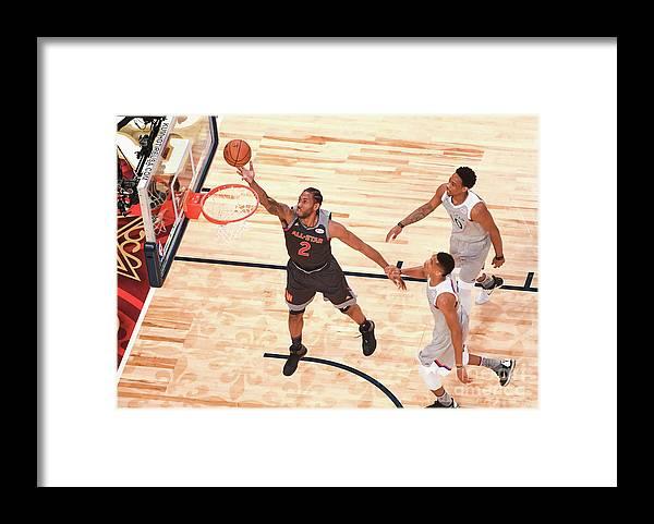 Event Framed Print featuring the photograph Kawhi Leonard by Garrett Ellwood