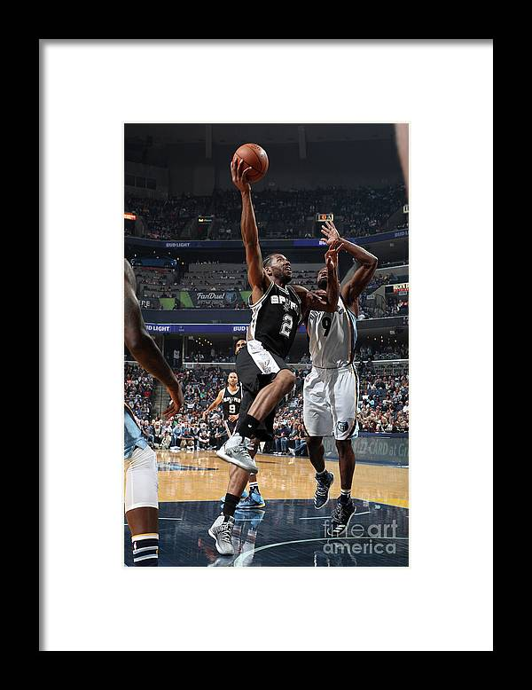 Nba Pro Basketball Framed Print featuring the photograph Kawhi Leonard by Joe Murphy