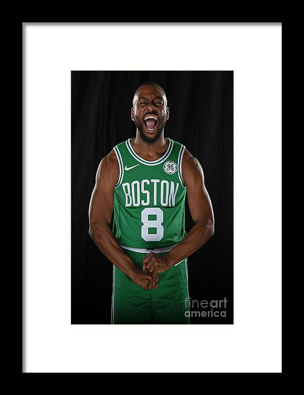 Kemba Walker Framed Print featuring the photograph Kemba Walker by Brian Babineau