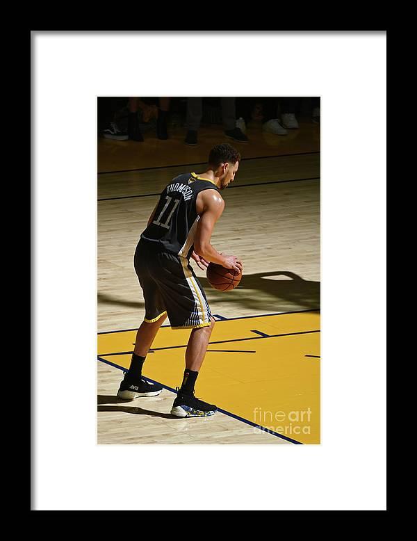 Playoffs Framed Print featuring the photograph Klay Thompson by Garrett Ellwood