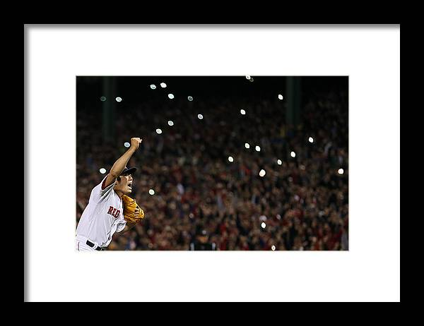 Playoffs Framed Print featuring the photograph Koji Uehara by Rob Carr
