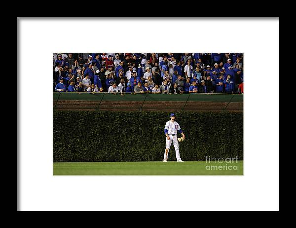 Playoffs Framed Print featuring the photograph Kris Bryant by Alex Trautwig