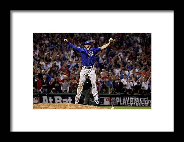 People Framed Print featuring the photograph Kris Bryant by Ezra Shaw