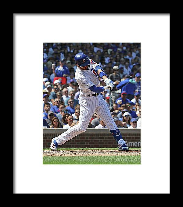 American League Baseball Framed Print featuring the photograph Kris Bryant by Jonathan Daniel