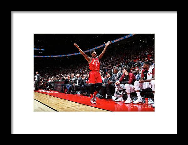 Nba Pro Basketball Framed Print featuring the photograph Kyle Lowry by Mark Blinch
