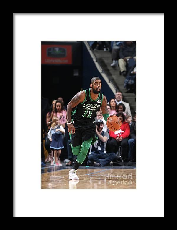 Nba Pro Basketball Framed Print featuring the photograph Kyrie Irving by Joe Murphy