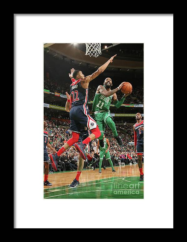 Nba Pro Basketball Framed Print featuring the photograph Kyrie Irving by Ned Dishman