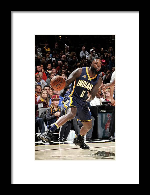Nba Pro Basketball Framed Print featuring the photograph Lance Stephenson by David Liam Kyle