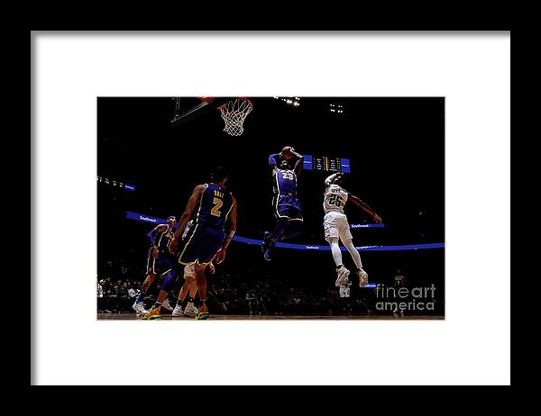 Nba Pro Basketball Framed Print featuring the photograph Lebron James by Bart Young