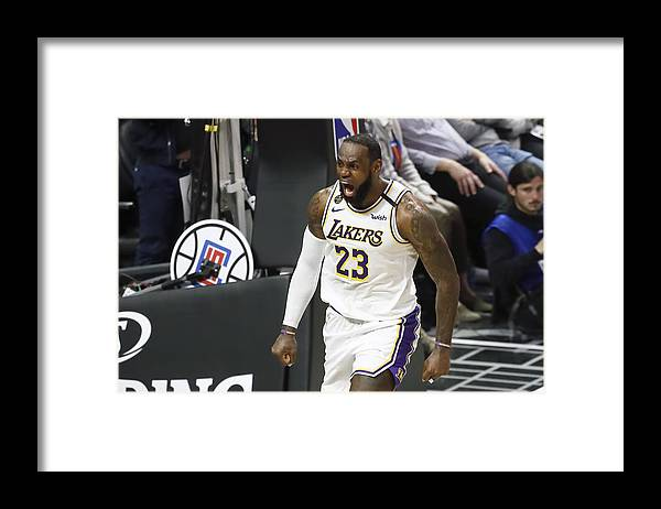 Nba Pro Basketball Framed Print featuring the photograph Lebron James by Chris Elise