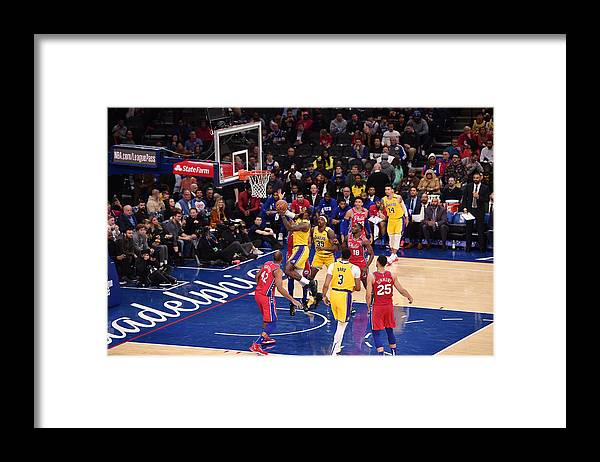 Nba Pro Basketball Framed Print featuring the photograph Lebron James by David Dow