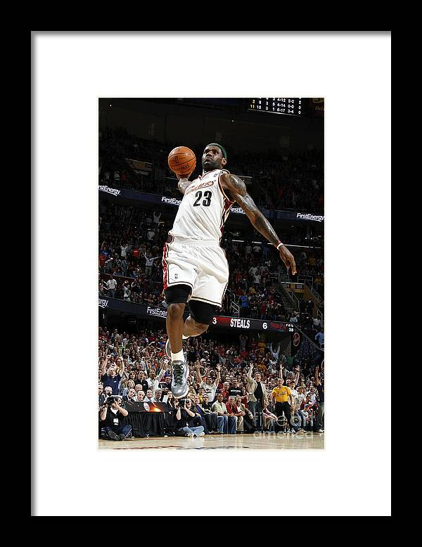 Nba Pro Basketball Framed Print featuring the photograph Lebron James by Gregory Shamus