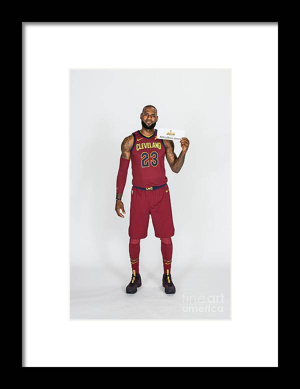 Media Day Framed Print featuring the photograph Lebron James by Michael J. Lebrecht Ii