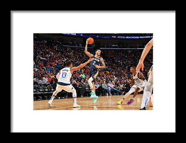 Smoothie King Center Framed Print featuring the photograph Lonzo Ball by Jesse D. Garrabrant