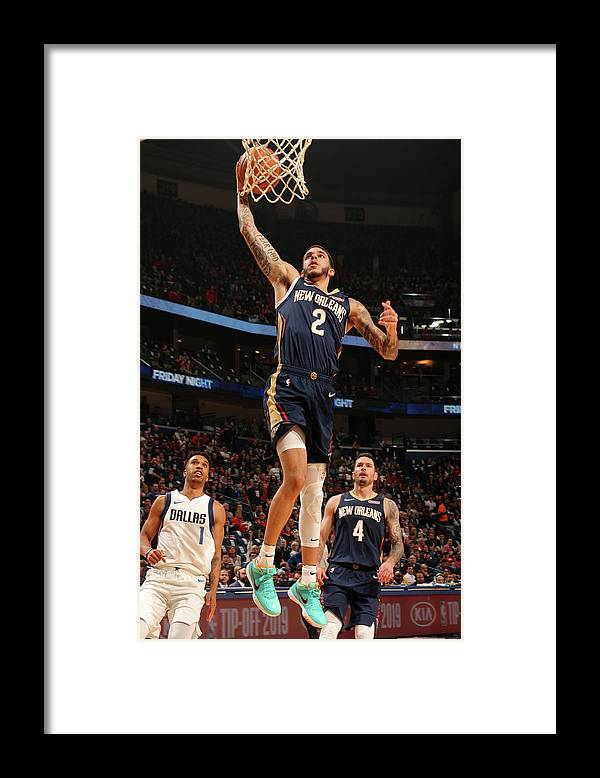 Smoothie King Center Framed Print featuring the photograph Lonzo Ball by Layne Murdoch Jr.
