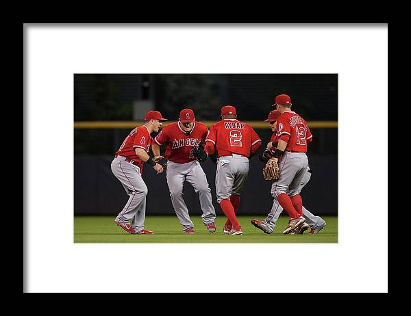 People Framed Print featuring the photograph Los Angeles Angels Of Anaheim V by Dustin Bradford