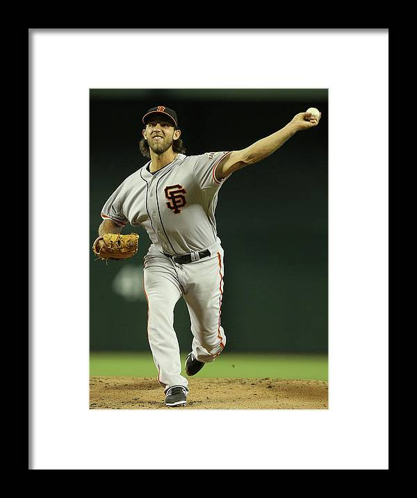 Baseball Pitcher Framed Print featuring the photograph Madison Bumgarner by Christian Petersen