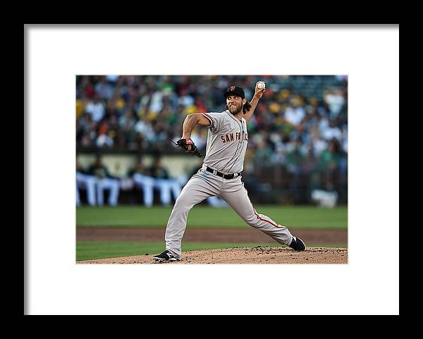 American League Baseball Framed Print featuring the photograph Madison Bumgarner by Thearon W. Henderson