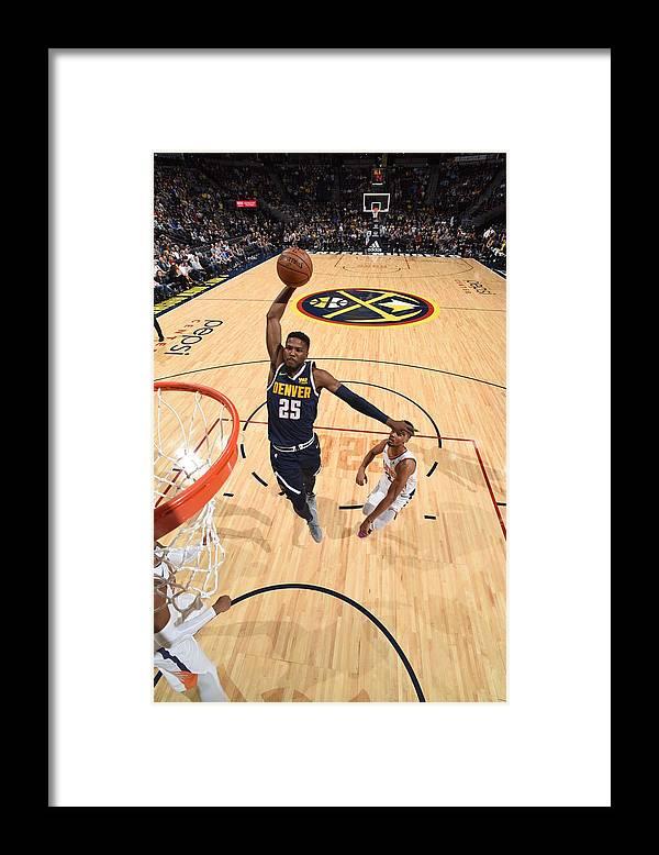 Nba Pro Basketball Framed Print featuring the photograph Malik Beasley by Garrett Ellwood