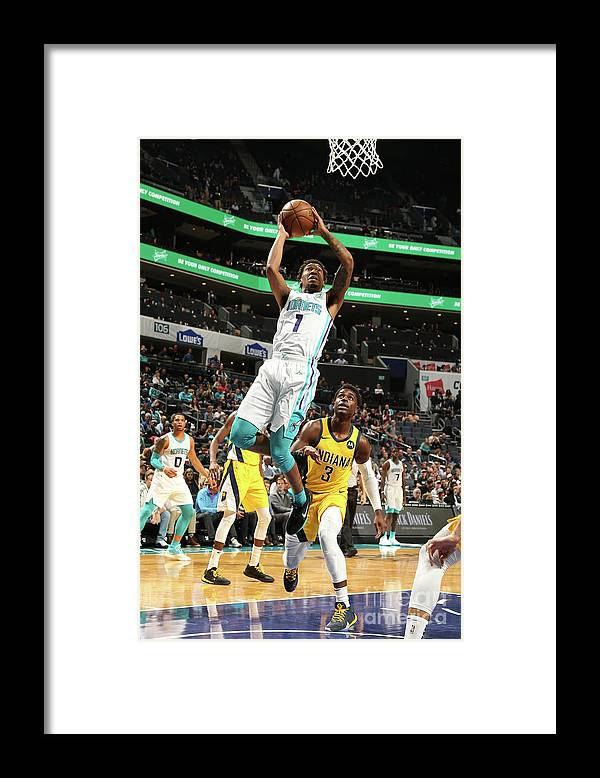 Nba Pro Basketball Framed Print featuring the photograph Malik Monk by Kent Smith