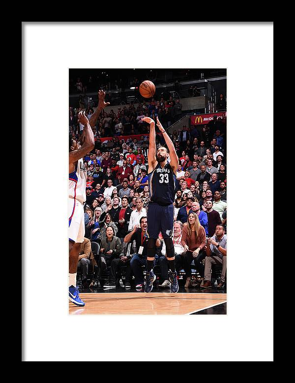 Nba Pro Basketball Framed Print featuring the photograph Marc Gasol by Andrew D. Bernstein