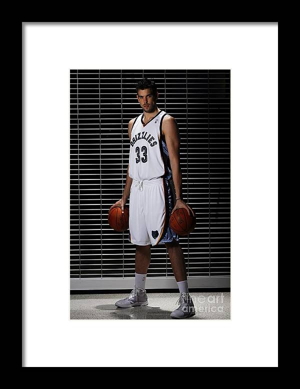 Media Day Framed Print featuring the photograph Marc Gasol by Joe Murphy