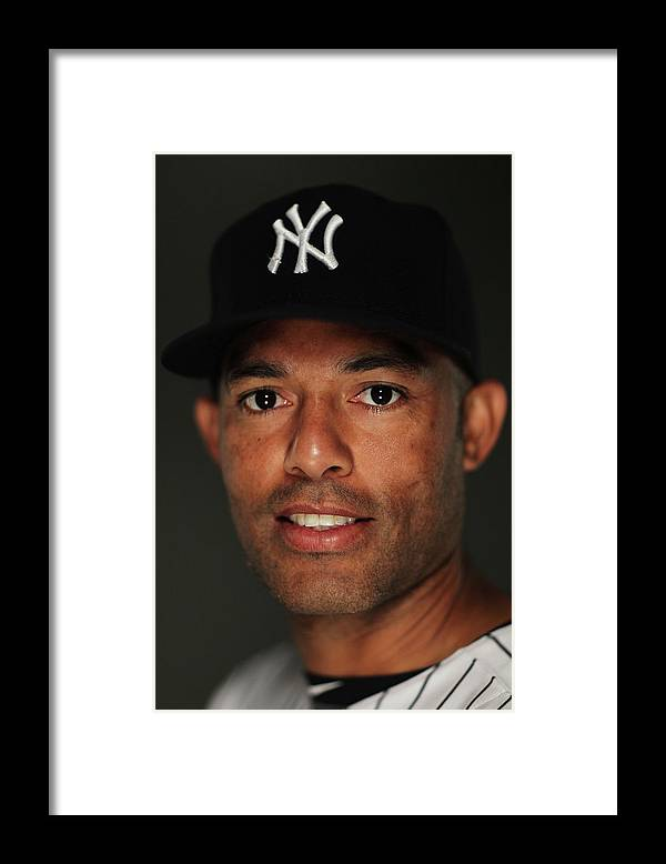Media Day Framed Print featuring the photograph Mariano Rivera by Al Bello