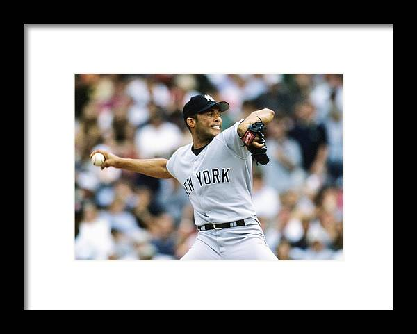 American League Baseball Framed Print featuring the photograph Mariano Rivera by Ronald C. Modra/sports Imagery