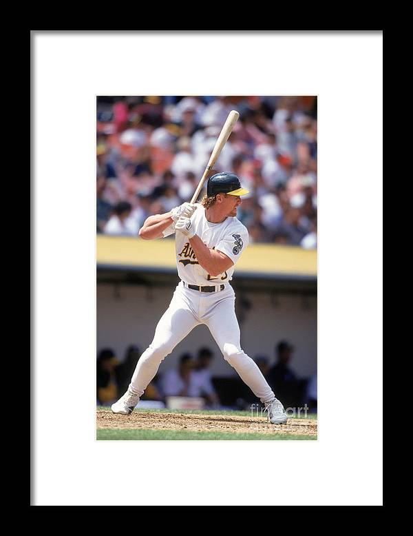 1980-1989 Framed Print featuring the photograph Mark Mcgwire by Jeff Carlick