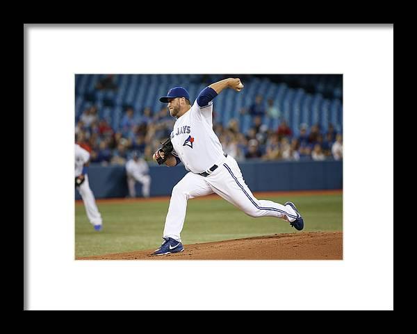 American League Baseball Framed Print featuring the photograph Mark Rogers by Tom Szczerbowski