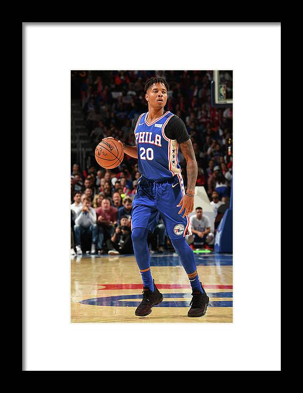 Nba Pro Basketball Framed Print featuring the photograph Markelle Fultz by David Dow