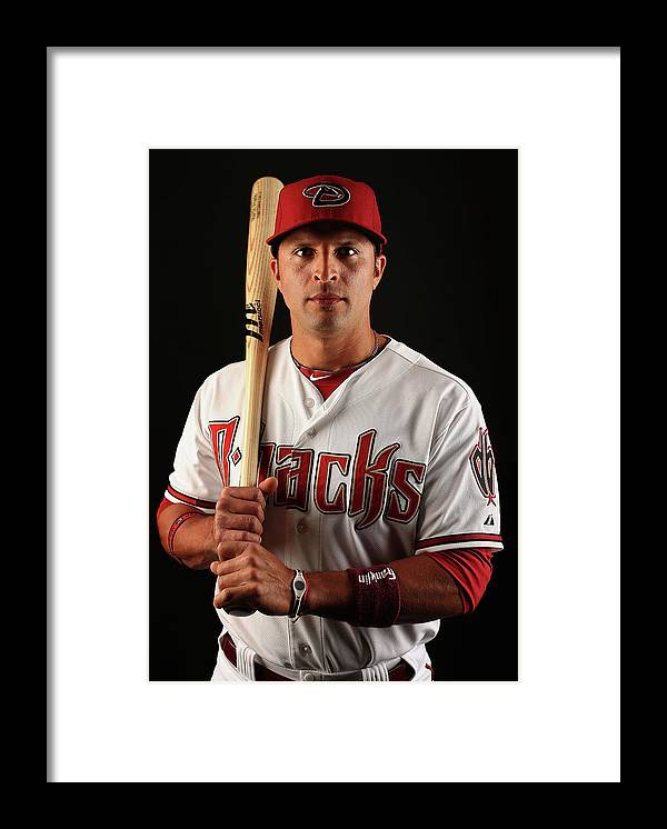 Media Day Framed Print featuring the photograph Martin Prado by Christian Petersen
